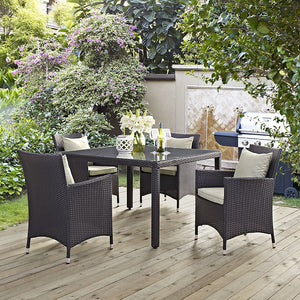 Berkeley 5 Piece Outdoor Patio Dining Set Free Shipping