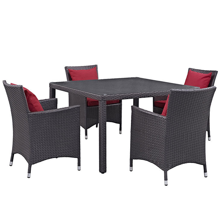 Berkeley 5 Piece Outdoor Patio Dining Set - living-essentials