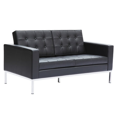 button loveseat in leather 31h x 59w x 31d - Mad Men Sofa