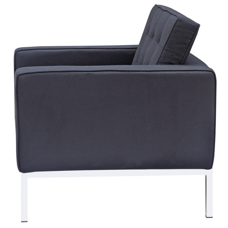 Florence Knoll Style Wool Armchair - living-essentials