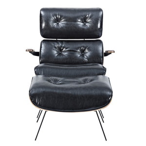 Earl Lounge Chair And Ottoman Milano Black Chairs Free Shipping