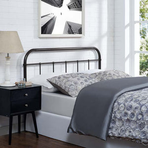Sedona Queen Steel Headboard Brown Free Shipping
