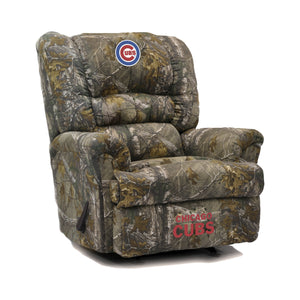 Chicago Cubs Big & Tall Camo Recliner