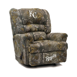 Kansas City Royals Big & Tall Camo Recliner - living-essentials