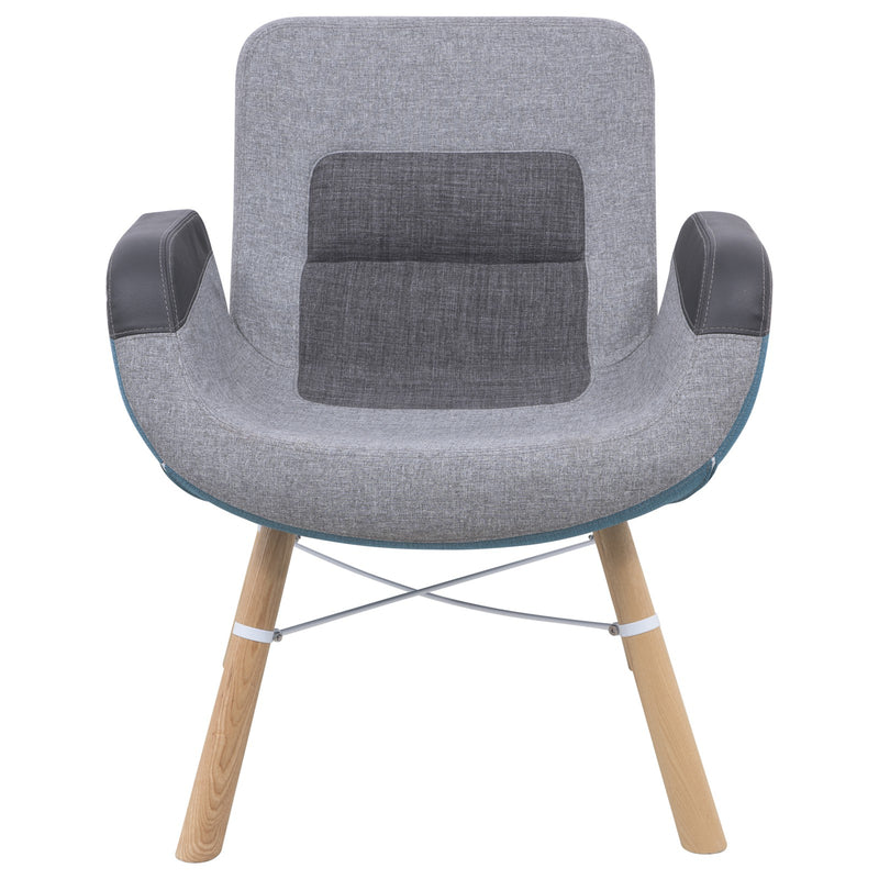 Milton Color Block Accent Chair - living-essentials