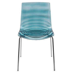 Asha Blue Water-Drop Dining Chair - living-essentials