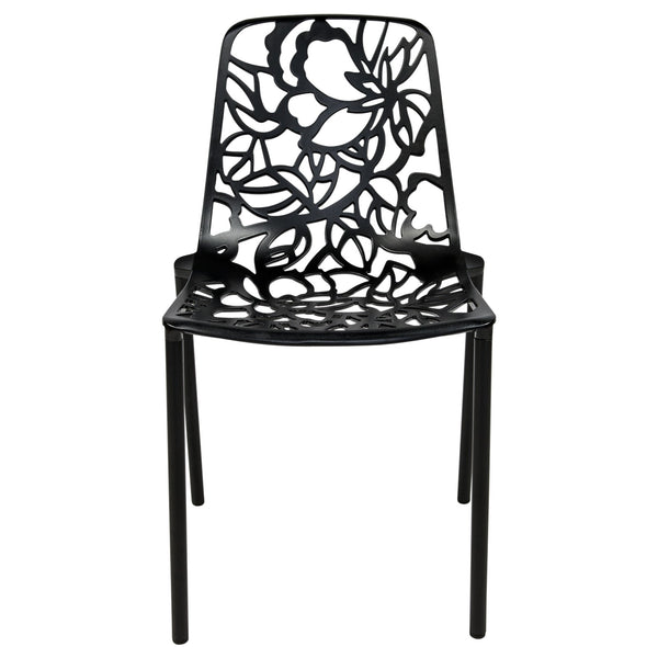 Desire Black Aluminum Side Chair - living-essentials