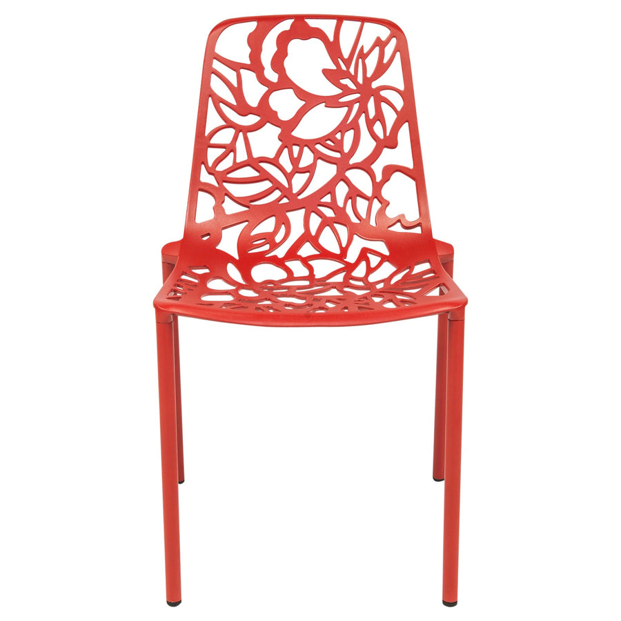 Desire Red Aluminum Side Chair