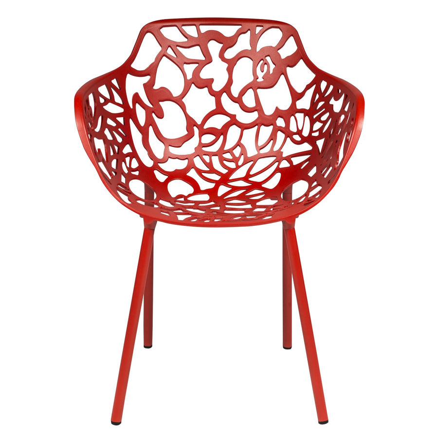 Desire Red Aluminum Side Armchair