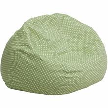 Gaby Oversized Green Dot Bean Bag Chair - living-essentials