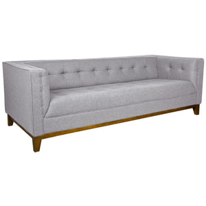 Sonora Light Grey Wool Tufted Sofa