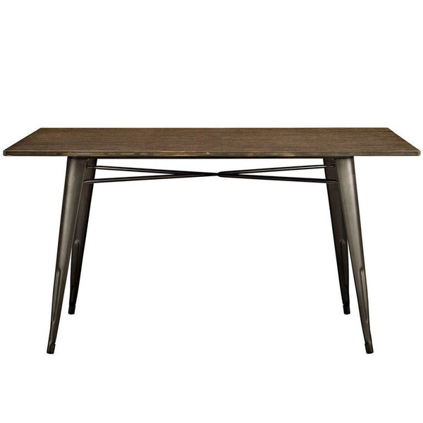 "Alma 59"" Rectangle Wood Dining Table - living-essentials"