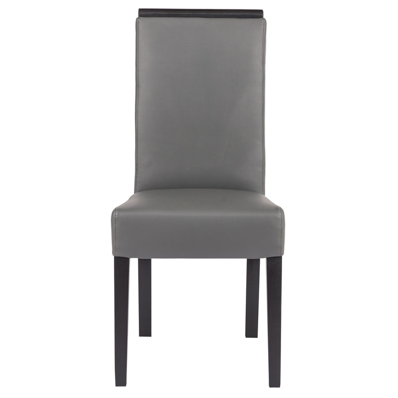Elyse Grey Vinyl Leather Dining Chair - living-essentials