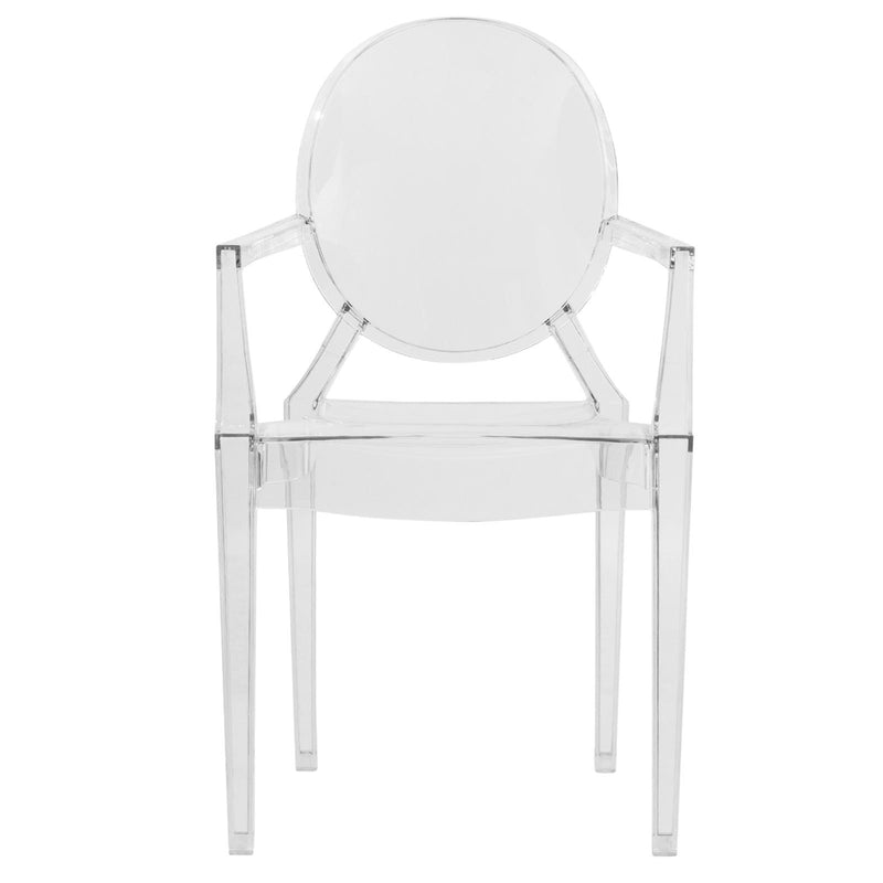 Carsen Clear Acrylic Dining Armchair - living-essentials