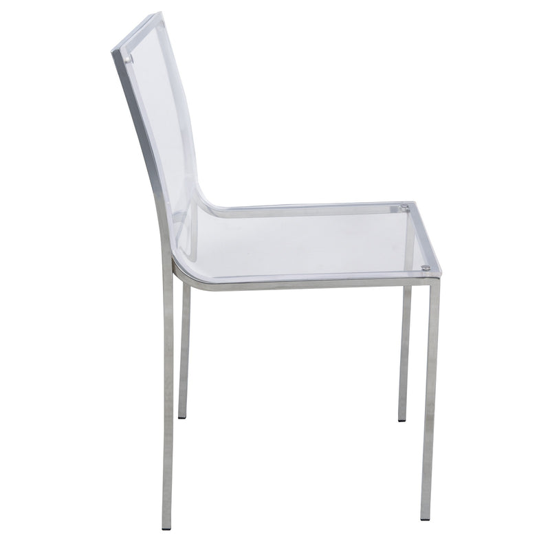 Alesia Clear Acrylic Dining Chair - living-essentials