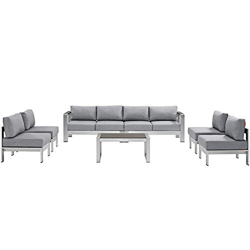 Sybil 7 Piece Outdoor Patio Sectional Sofa Set - living-essentials