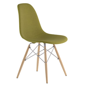 Emfurn Daw Style Fabric/leather Dining Side Chair Light Sand / Natural Fabric Chairs Free Shipping