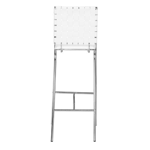 Intersect White Bar Chair - living-essentials