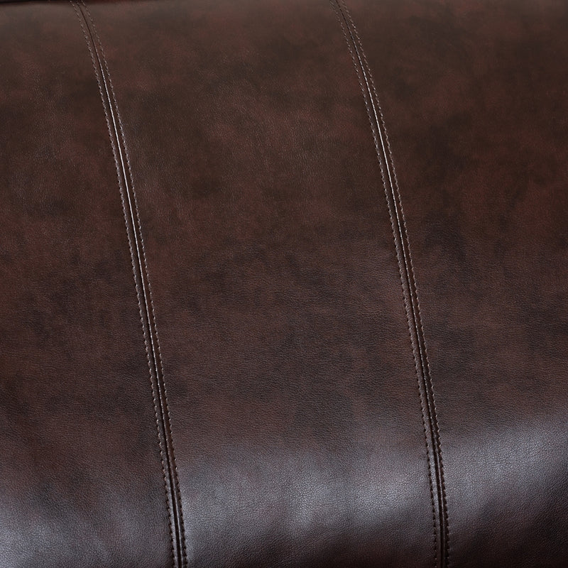 Hamilton Dark Brown Faux Leather Sectional Sofa - living-essentials
