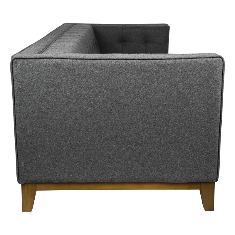 Sonora Dark Grey Wool Tufted Sofa - living-essentials
