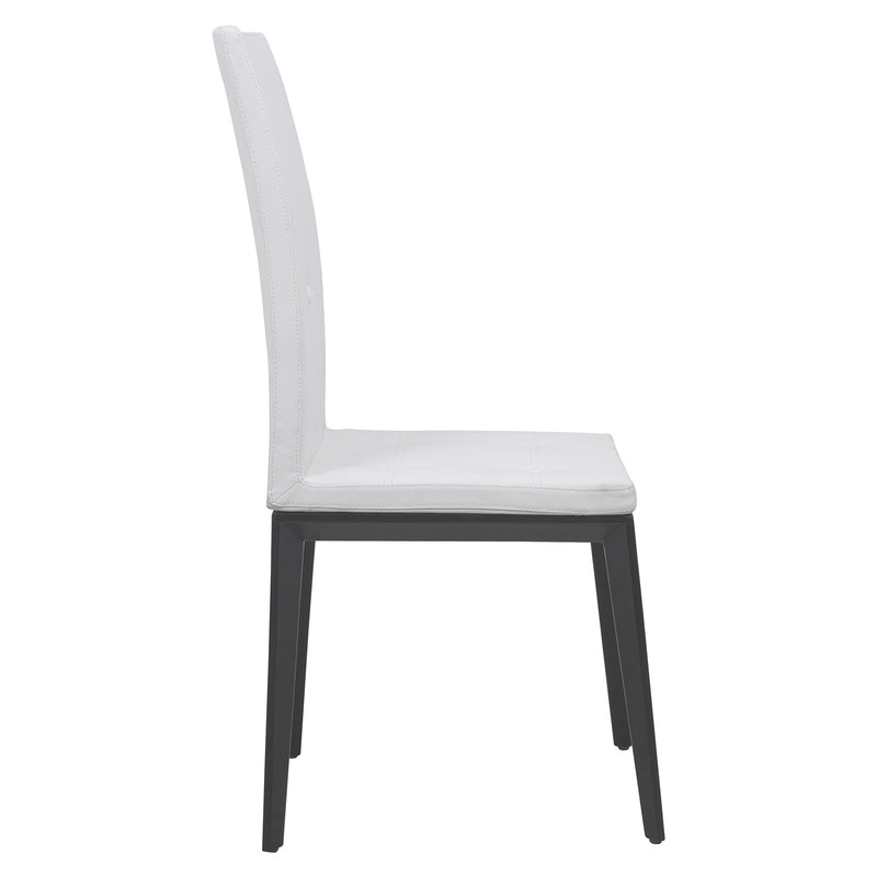 Soleil White Vinyl Leather Dining Chair - living-essentials