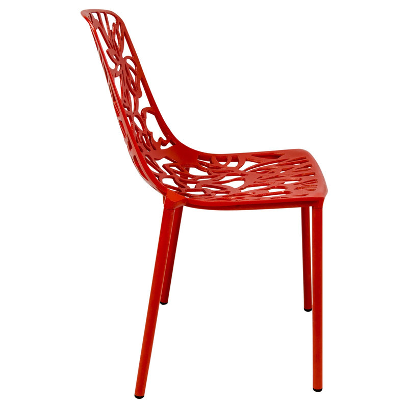 Desire Red Aluminum Side Chair - living-essentials