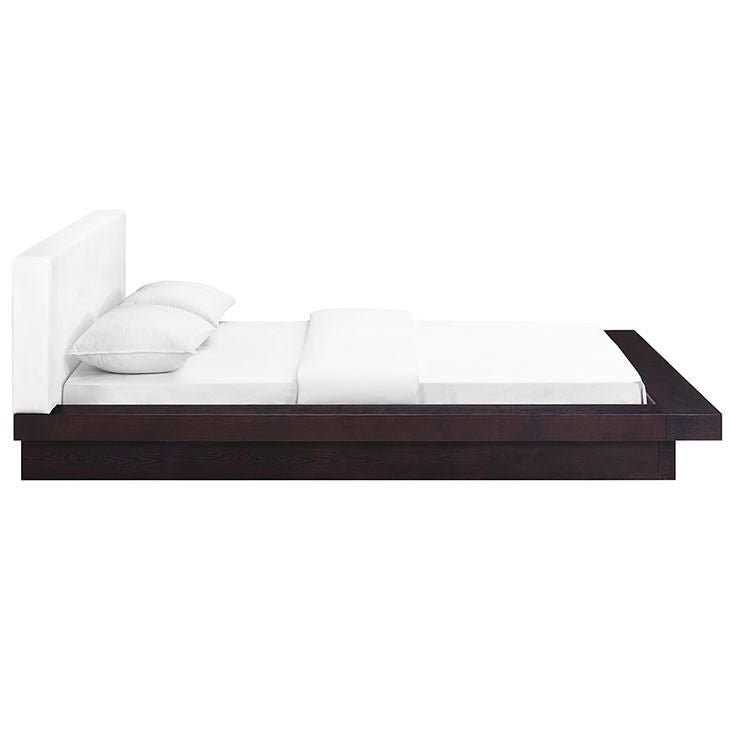 Oslo Queen Vinyl Platform Bed - living-essentials