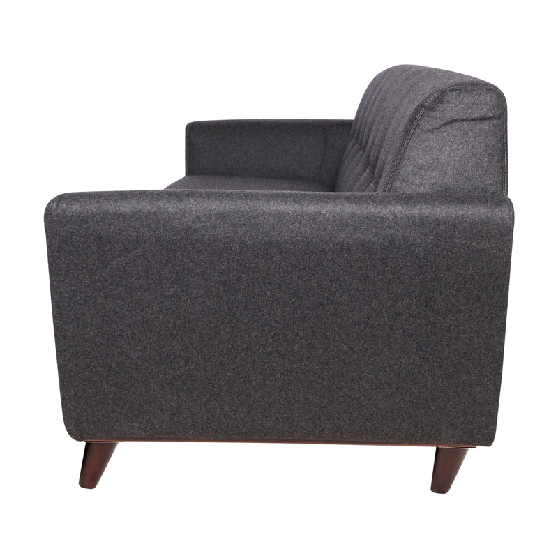 Luca Dark Grey Wool Sofa - living-essentials