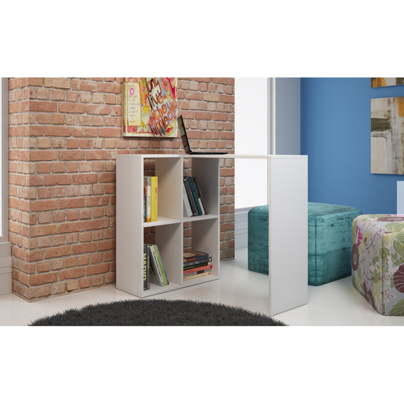 Pescara Cubby Desk with 4 Shelves - living-essentials