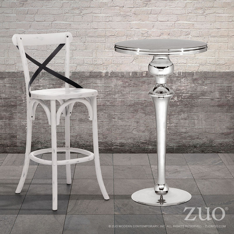 Theo Stainless Steel Bar Table Tables Free Shipping