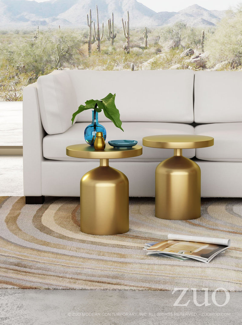 Caesar Brass Accent Side Table - living-essentials