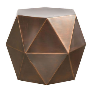Cooper Bronze Accent Side Table Free Shipping