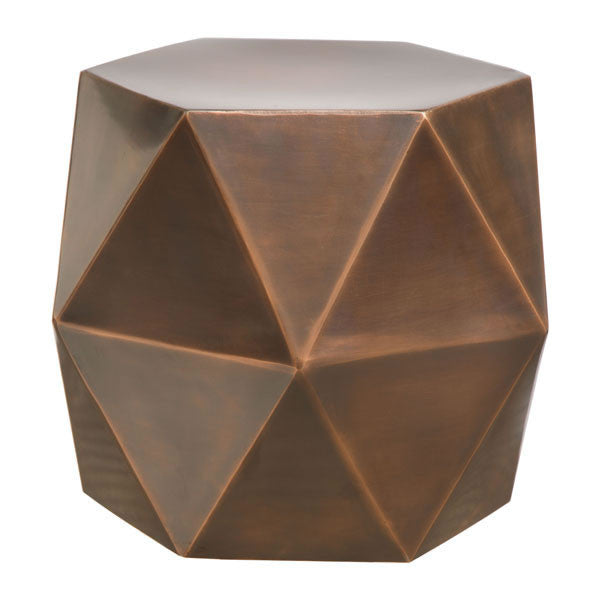 Delightful Cooper Bronze Accent Side Table