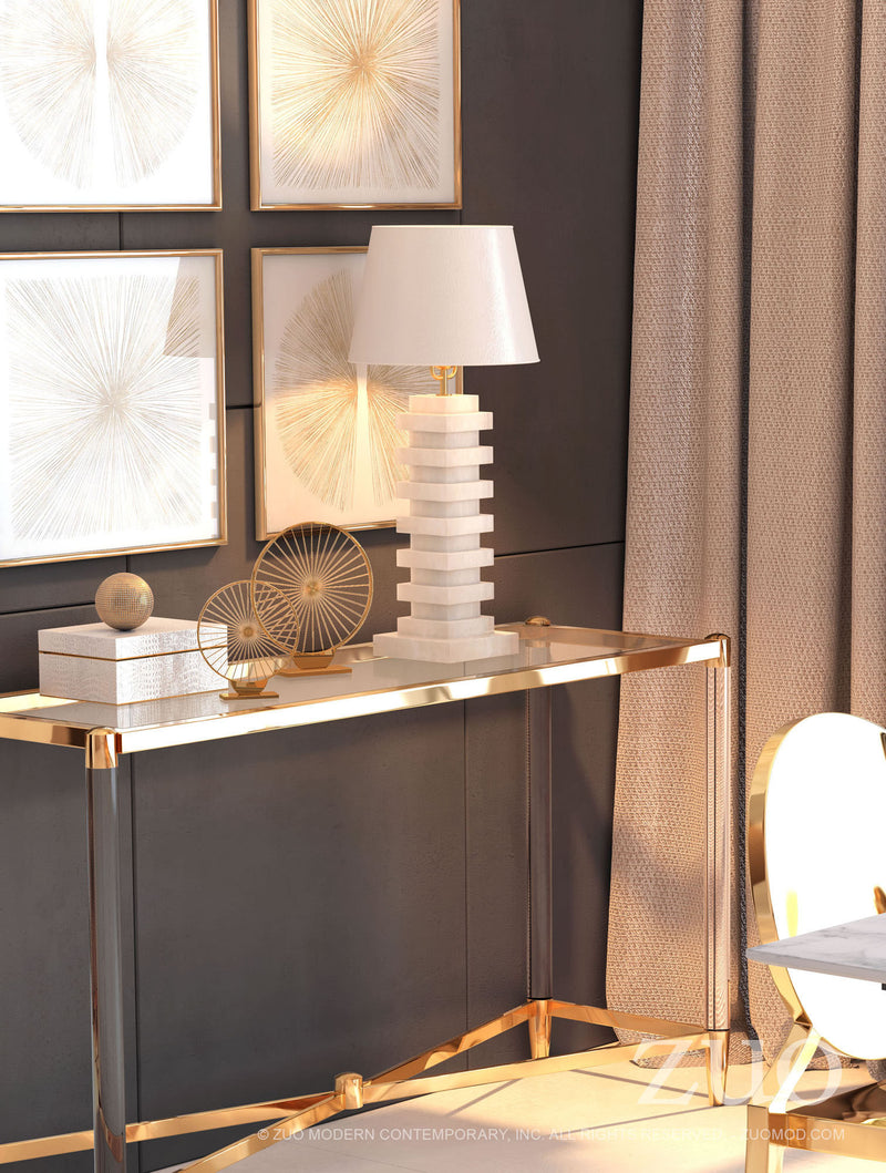 Erica White Table Lamp - living-essentials