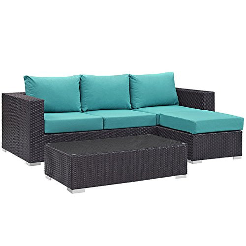 Congregate 3 Piece Outdoor Patio Sofa Set - living-essentials