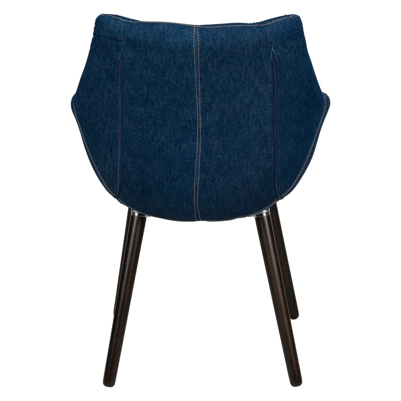 Mitchell Blue Tufted Denim Lounge Chair - living-essentials