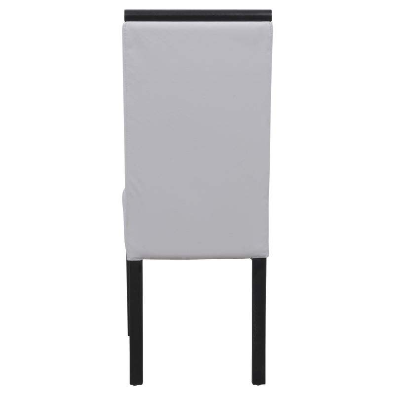 Elyse White Vinyl Leather Dining Chair - living-essentials
