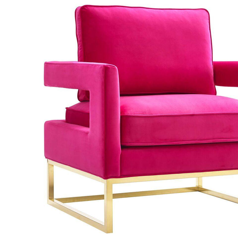 Alfred Velvet Lounge Chair - living-essentials