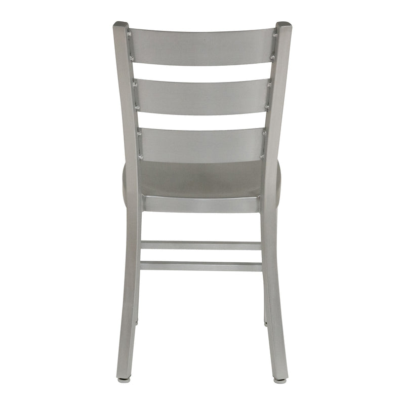 Delta Silver Aluminum Dining Chair - living-essentials