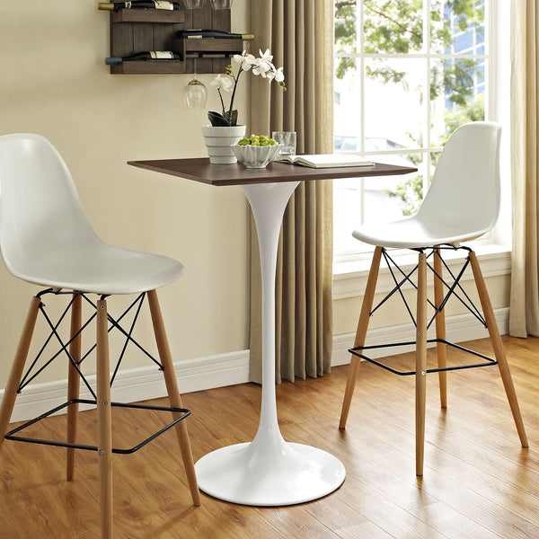 "Tulip Style 28"" Wood Bar Table - living-essentials"
