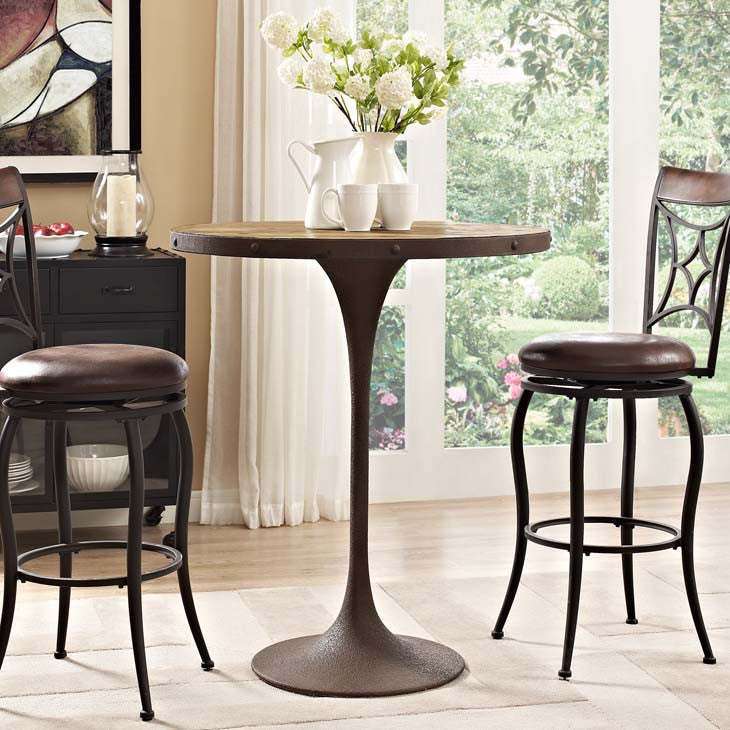 Gavin Wood Bar Table - living-essentials