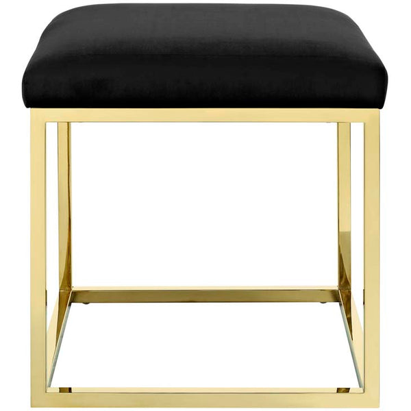 Andie Gold Ottoman - living-essentials