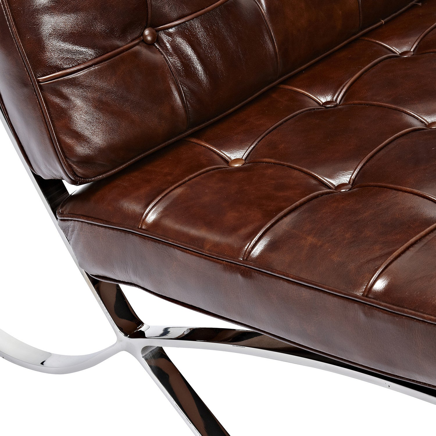 ... Barcelona Style Chair   Vintage Aged Leather. Mobile Gallery