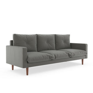 Ashby Sofa Oxford Weave Light Steel / Black Sofas Free Shipping