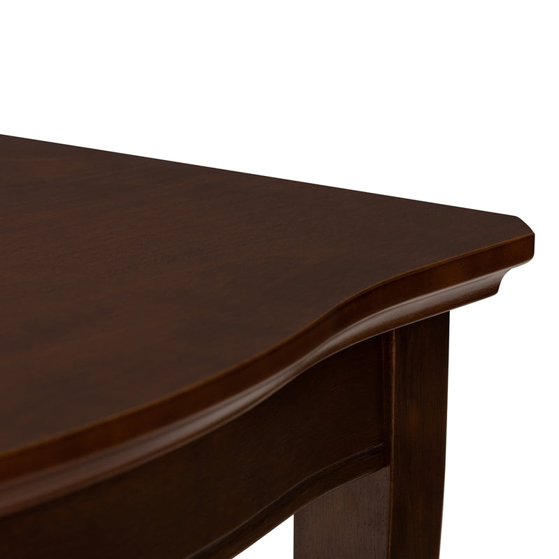 Ridge Walnut Brown Finished Extendable Dining Table - living-essentials