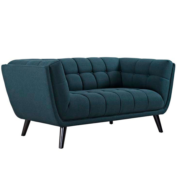 Becca Upholstered Fabric Loveseat - living-essentials