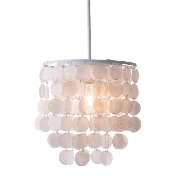 Capiz White Ceiling Lamp - living-essentials