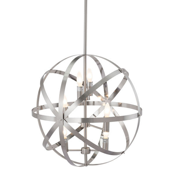 Atomic Satin Nickel Ceiling Lamp - living-essentials