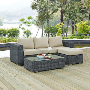 Santa Maria 3 Piece Outdoor Patio Sunbrella Sectional Set Free Shipping