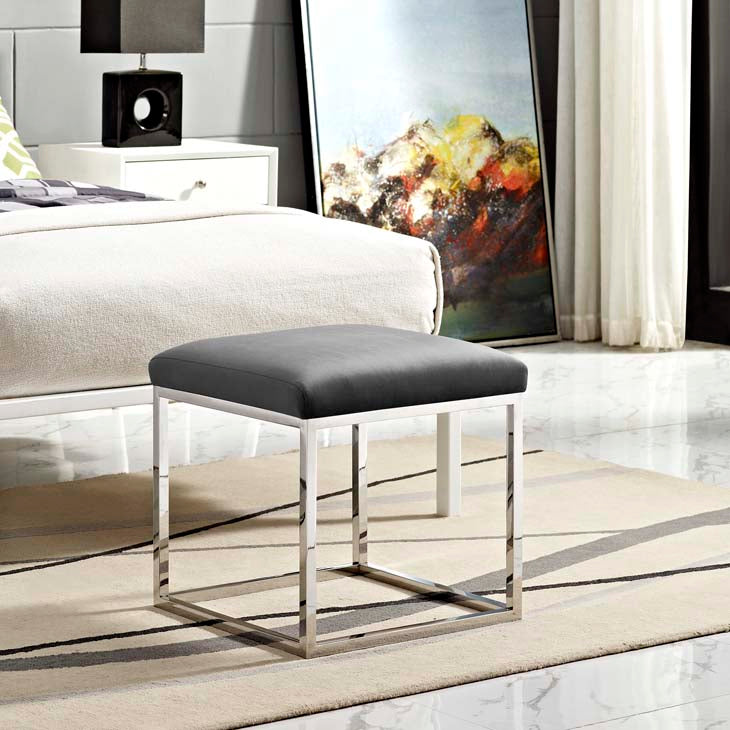 Gale Ottoman in Silver Gray - living-essentials